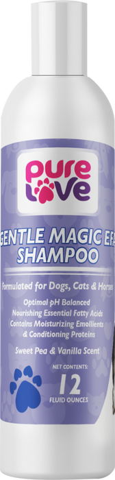 Pure Love Gentle Magic EFA Shampoo-Sweet Pea and Vanilla Scent For Dogs and Cats