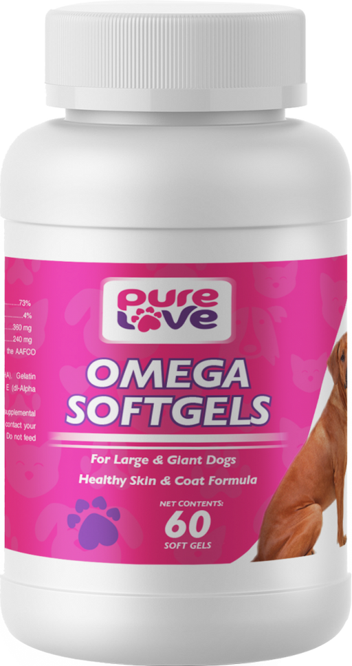 Pure Love Omega V3 SoftGels for Large and Giant Dogs