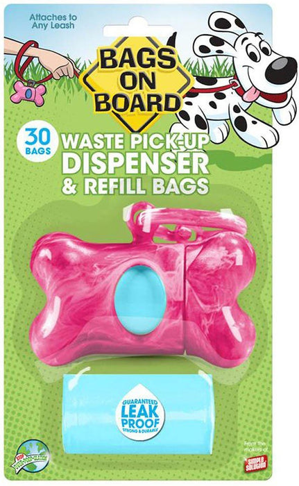 Bags on Board Pink Bone Dispenser