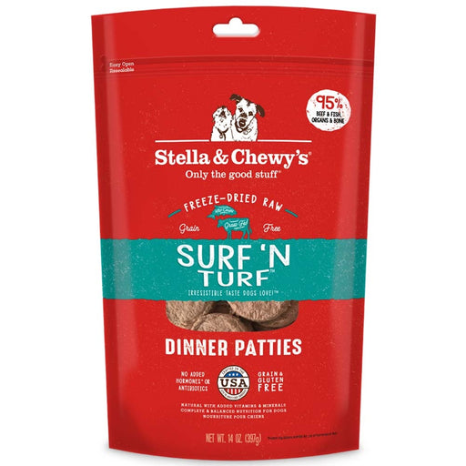 Stella & Chewy's Surf 'N Turf Dinner Patties Freeze Dried Dog Food