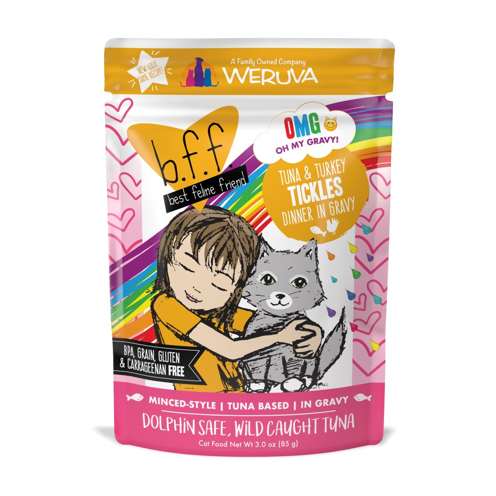 Weruva BFF Tuna & Turkey Tickles Recipe Pouches Wet Cat Food