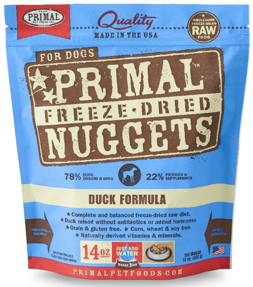 Primal Freeze Dried Nuggets Grain Free Duck Formula Dog Food