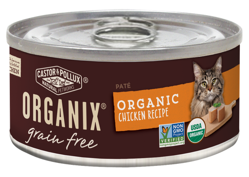 Castor and Pollux Organix Grain Free Organic Chicken Recipe Canned Cat Food