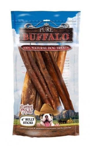 Pure Buffalo Bully Sticks Dog Treats