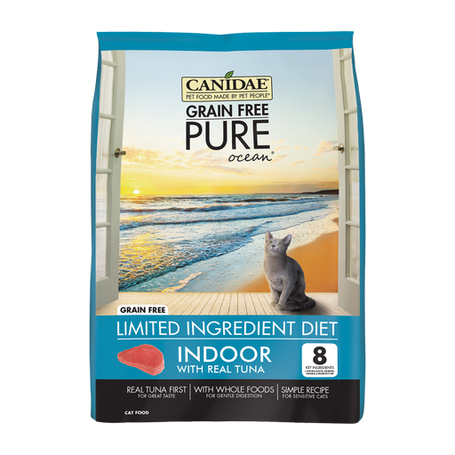 Canidae Grain Free PURE Ocean Indoor with Tuna Dry Cat Food
