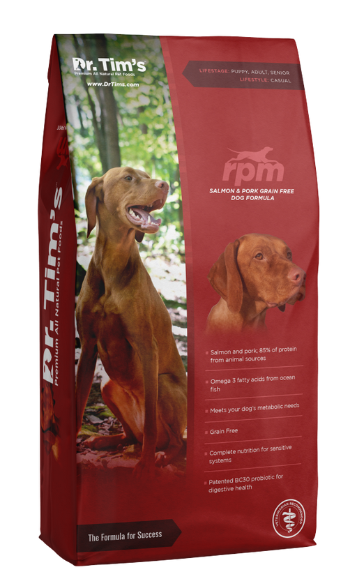 Dr. Tim's RPM Grain Free Salmon and Pork Formula Dry Dog Food