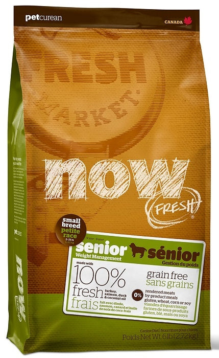 Petcurean Now! Fresh Grain Free Small Breed Senior Dry Dog Food