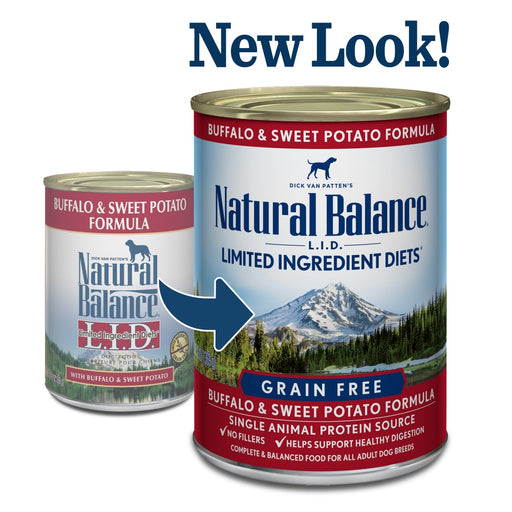 Natural Balance L.I.D. Limited Ingredient Diets Buffalo and Sweet Potato Formula Canned Dog Food