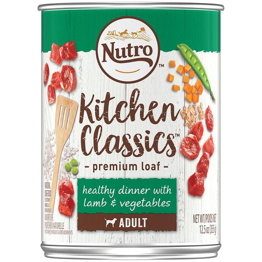 Nutro Adult Kitchen Classics Healthy Dinner With Lamb & Vegetables Premium Loaf Canned Dog Food