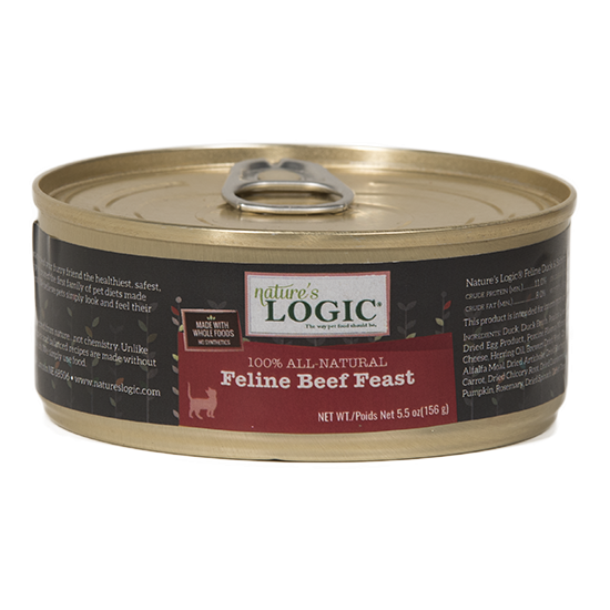 Nature's Logic Grain Free Feline Beef Feast Canned Cat Food