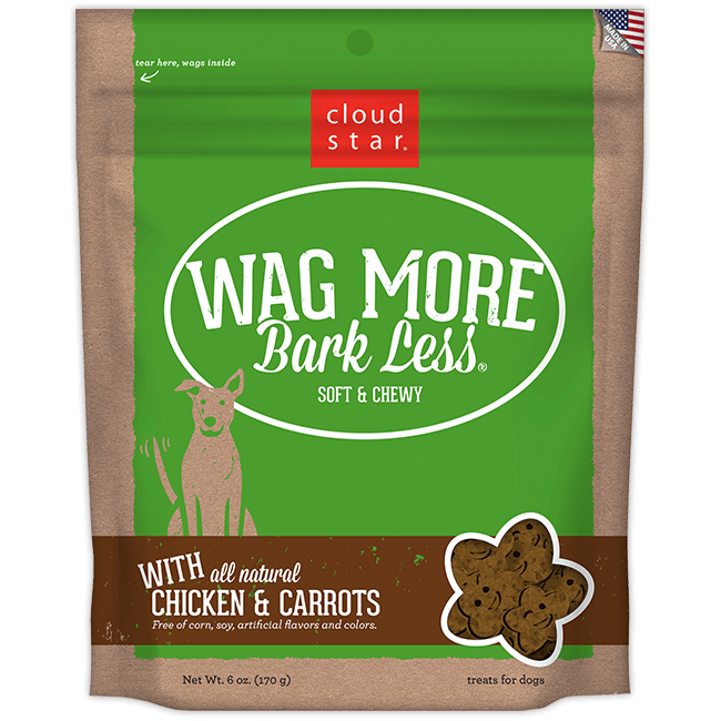 Cloud Star Wag More Bark Less Soft and Chewy Chicken and Carrots Dog Treats