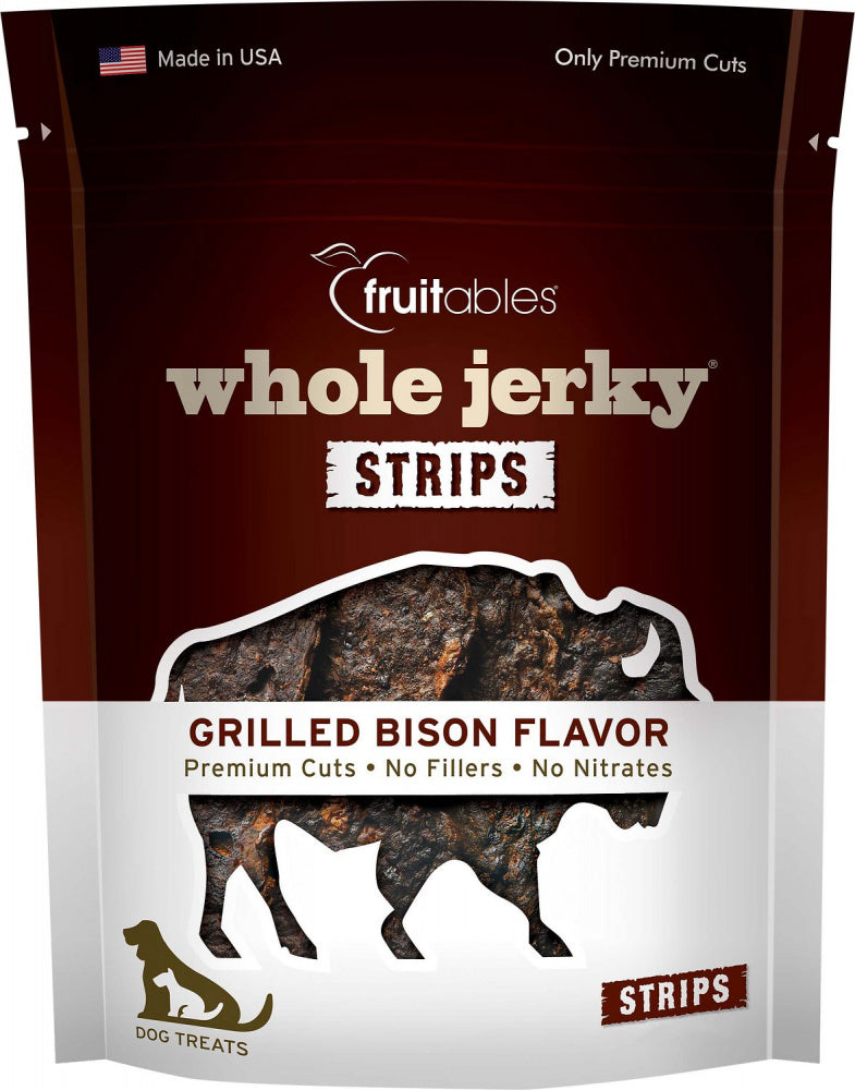 Fruitables Whole Jerky Grilled Bison Strips Dog Treats