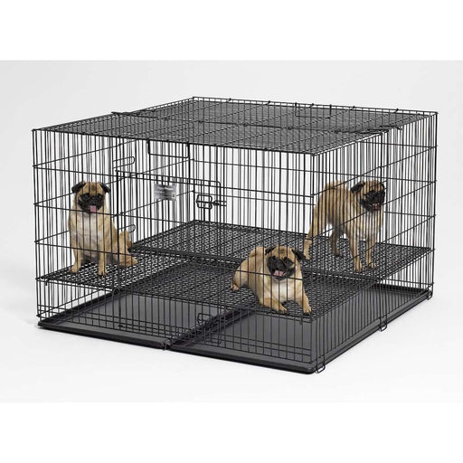 Midwest Puppy Playpen with Plastic Pan and Half Inch Floor Grid