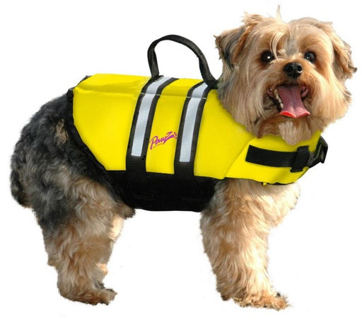 Pawz Pet Products Nylon Yellow Dog Life Jacket