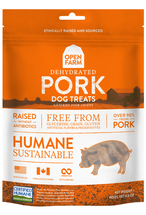 Open Farm Dehydrated Grain Free Pork Dog Treats