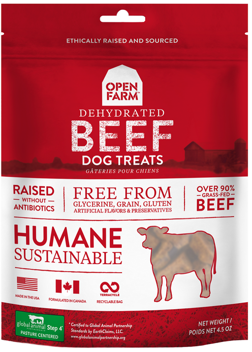 Open Farm Dehydrated Grain Free Beef Dog Treats