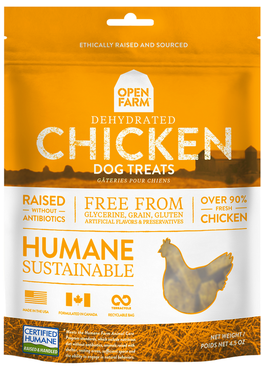 Open Farm Dehydrated Grain Free Chicken Dog Treats