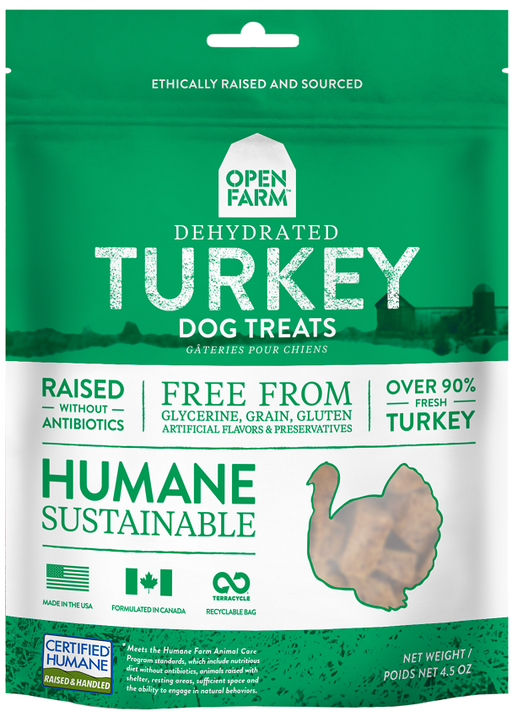 Open Farm Dehydrated Grain Free Turkey Dog Treats