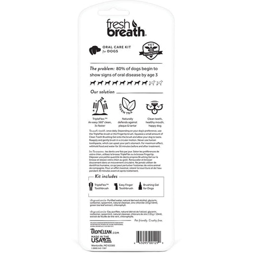 Tropiclean Fresh Breath Oral Care Kit for Dogs