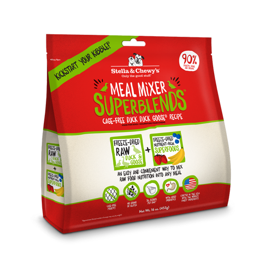 Stella & Chewy's Meal Mixer SuperBlends Cage-Free Duck Duck Goose Recipe for Dogs
