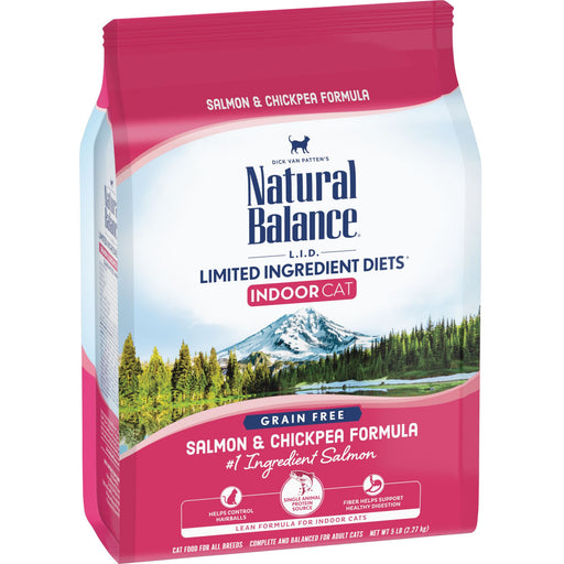 Natural Balance Limited Ingredient Diets Salmon & Chickpea Indoor Dry Cat Food