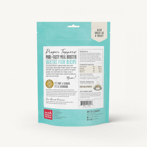 The Honest Kitchen PROPER TOPPERS Grain Free Fish Dog Food Pouch