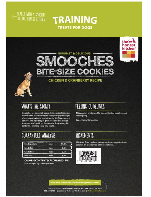 The Honest Kitchen SMOOCHES Grain Free Chicken and Cranberry Cookie Treats for Dogs