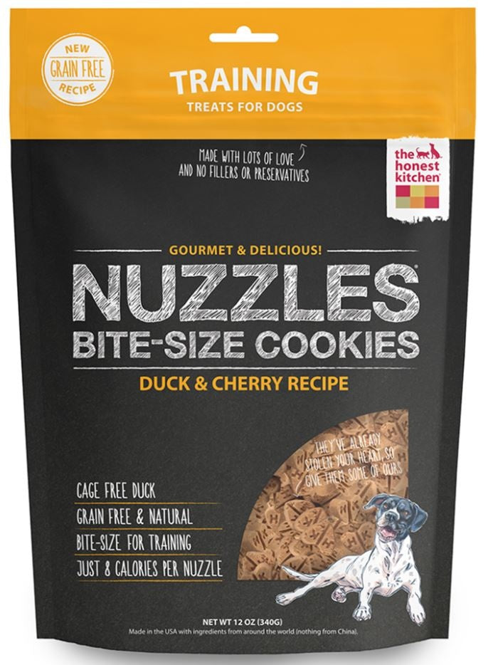 The Honest Kitchen NUZZLES Grain Free Duck and Cherry Cookie Treats for Dogs