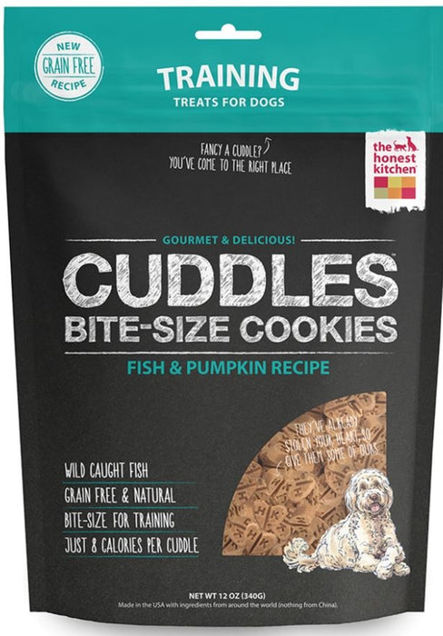 The Honest Kitchen CUDDLES Grain Free Fish and Pumpkin Cookie Treats for Dogs