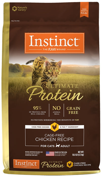 Nature's Variety Instinct Ultimate Protein Adult Grain Free Cage Free Chicken Recipe Natural Dry Cat Food