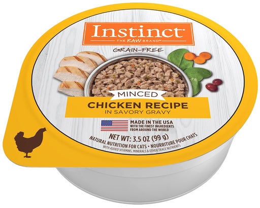 Nature's Variety Instinct Adult Grain Free Minced Recipe with Real Chicken Natural Cat food Cups
