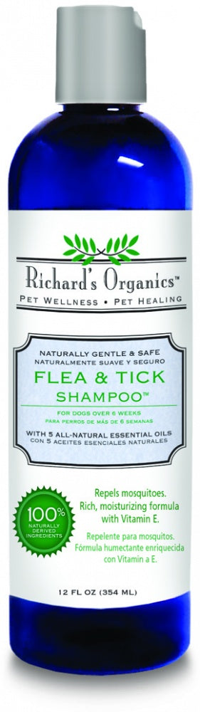 Richard's Organics Flea and Tick Shampoo for Dogs