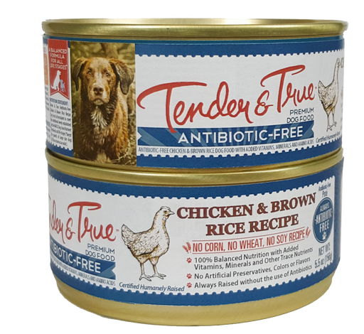 Tender & True Antibiotic-Free Chicken and Brown Rice Recipe Canned Dog Food