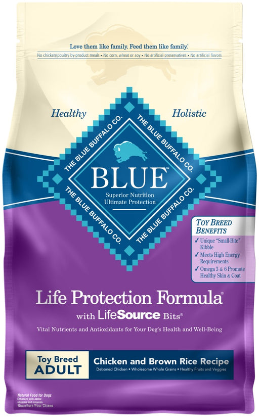 Blue Buffalo Life Protection Formula Natural Chicken & Brown Rice Recipe Adult Toy Breed Dry Dog Food
