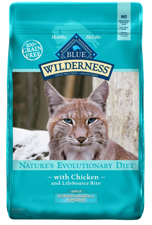 Blue Buffalo Wilderness Grain Free Adult Indoor Hairball Chicken High Protein Dry Cat Food