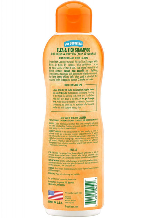 Tropiclean Natural Flea & Tick Shampoo Plus Soothing