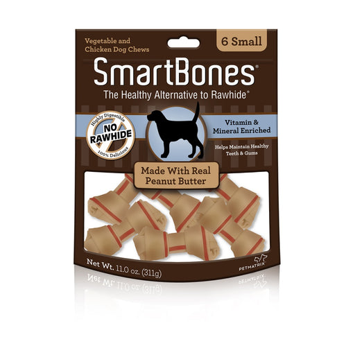 SmartBones Rawhide-Free Peanut Butter Dog Treats