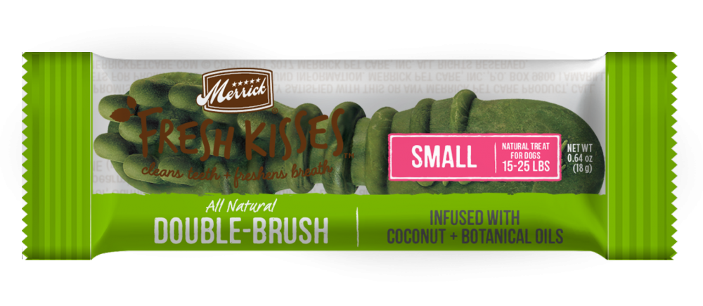 Merrick Fresh Kisses Grain Free Coconut Oil and Botanicals Small Dog Treat Box