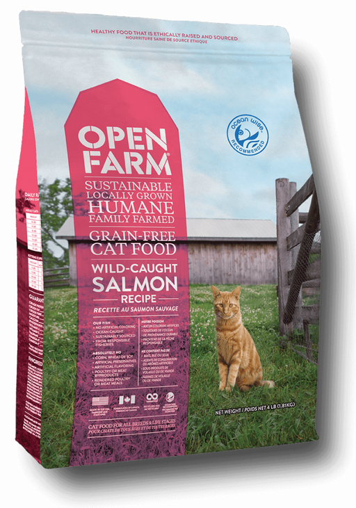 Open Farm Grain Free Wild Caught Salmon Recipe Dry Cat Food