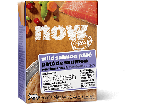 Petcurean Now! Fresh Grain Free Wild Salmon Pate with Bone Broth Wet Cat Food