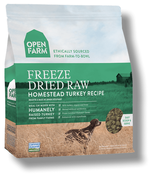 Open Farm Grain Free Homestead Turkey Recipe Freeze Dried Raw Dog Food