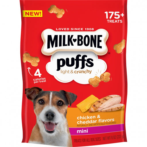 Milk-Bone Puffs Crunchy Chicken and Cheddar Mini Dog Treats