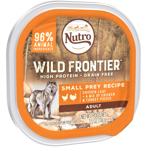 Nutro Wild Frontier Grain Free Small Prey Recipe Wet Dog Food Trays