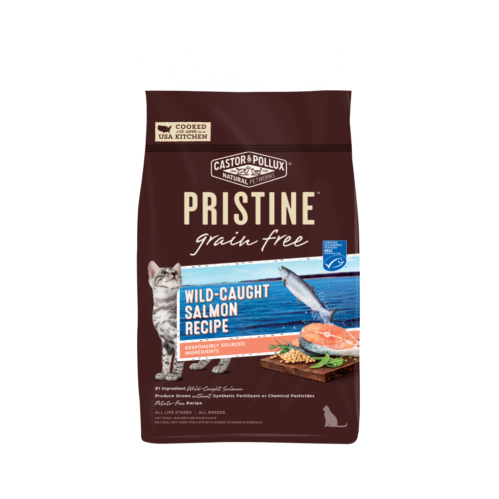 Castor and Pollux Pristine Grain Free Wild Caught Salmon Recipe Dry Cat Food