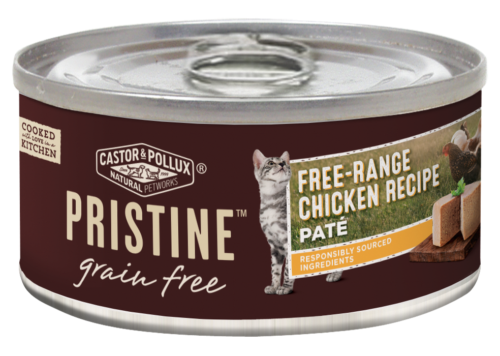 Castor and Pollux Pristine Grain-Free Free-Range Chicken Pate Canned Cat Food
