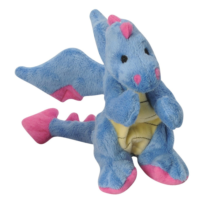 Go Dog Periwinkle Dragon with Chew Guard Technology Dog Chew Toy