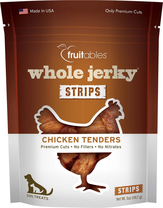 Fruitables Whole Jerky Natural Roasted Chicken Dog Treats