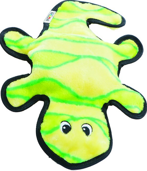 Outward Hound Invincibles Gecko Yellow/Green Squeaky Dog Toy