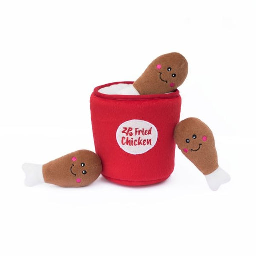 ZippyPaws Zippy Burrow Chicken Bucket Hide and Seek Puzzle Dog Toy