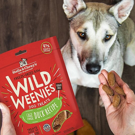 Stella & Chewy's Wild Weenies Grain Free Duck Recipe Freeze Dried Raw Dog Treats